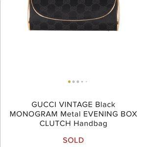 Gucci vintage metal clutch 1960's